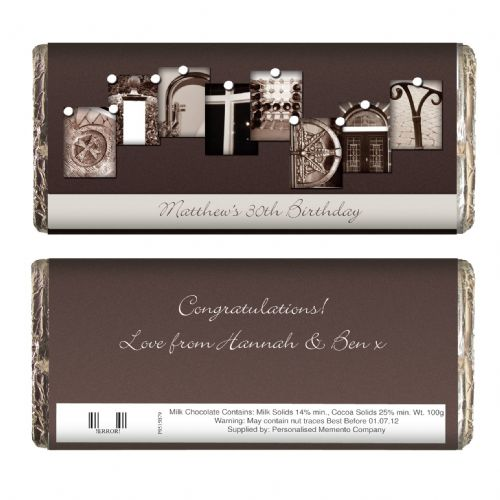 Personalised Affection Art Birthday Chocolate Bar
